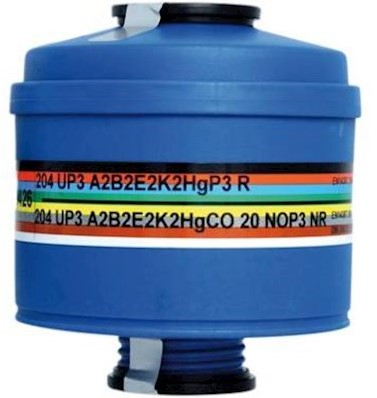 Spasciani 204 UP3 combinatiefilter A2B2E2K2CONOHg-P3 R