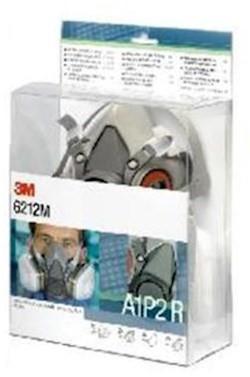3M 6212M starterskit voor halfgelaatsmaskers met A1-P2 R filtercombinatie