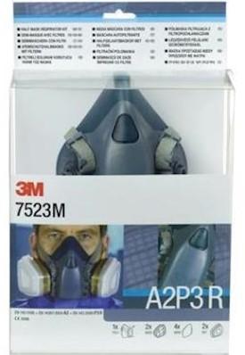 3M 7523M starterskit voor halfgelaatsmaskers met A2-P3 R filtercombinatie